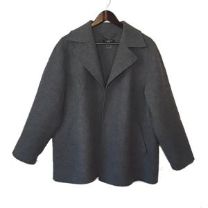 Talbots Woman's Petite Gray Wool Coat 20w